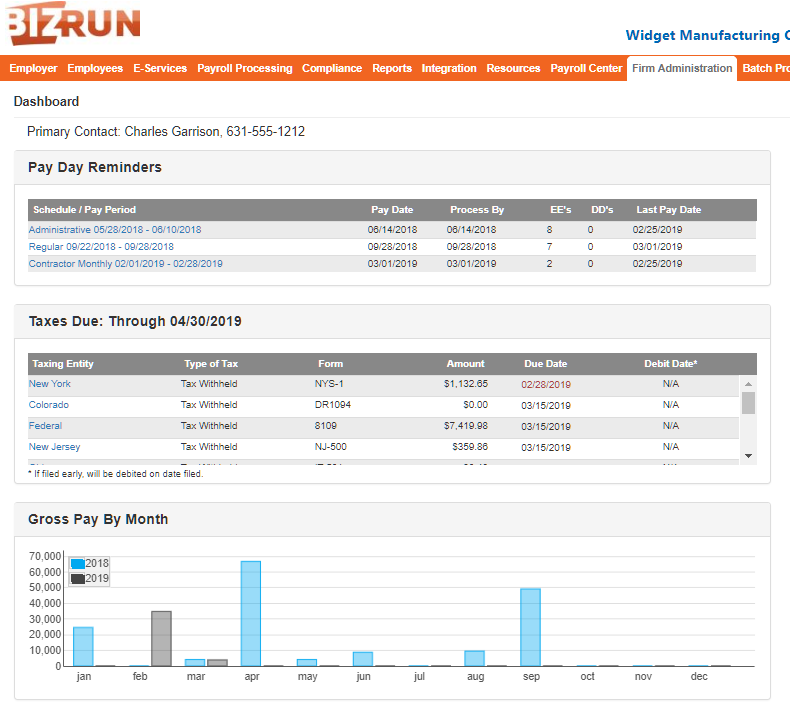Payroll Admin Dashboard