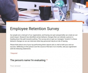 Retention Survey