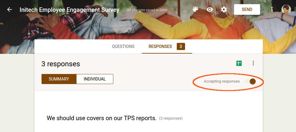 Close the survey.